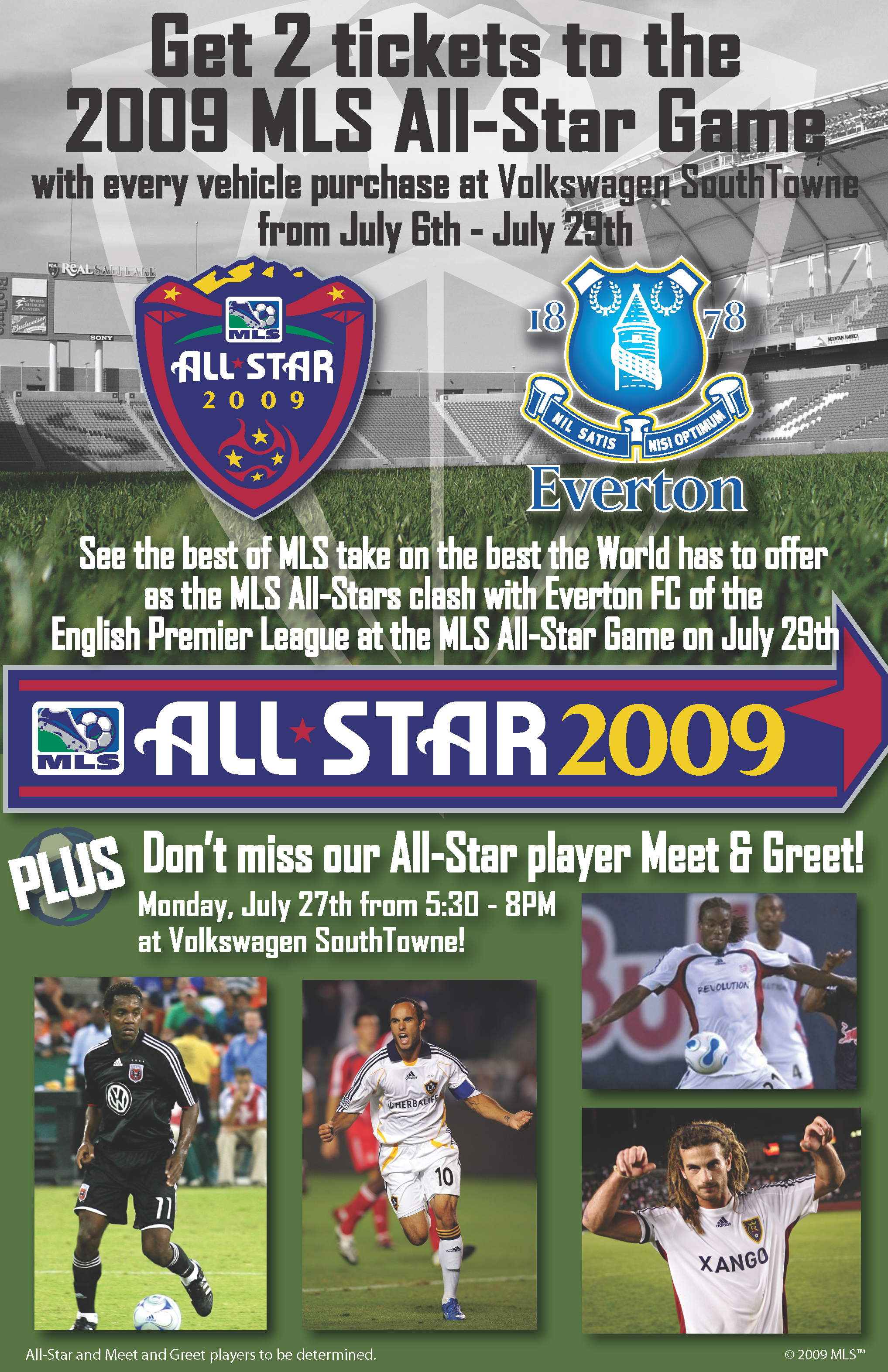 Get 2 Tickets To Mls All Star Game July 29th Volkswagen